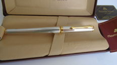 Maurice Lacroix. Solid silver and gold fountain pen.