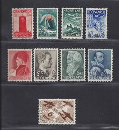 The Netherlands 1933/1935 - Seamen stamps, Summer and Aviation Fund - NVPH 257/260, 274/277, 278