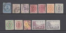Finlandia 1866/1930 - Small lot of key values.