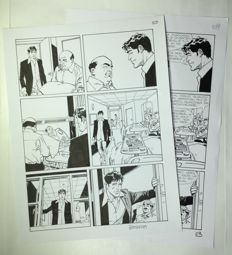 """Brindisi, Bruno - original plate """"Dylan Dog"""" no. 338, with a printing proof (2014)"""