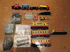 Trains 12V / 4,5V - 7740 + 7720 - Inter-City Passenger Train + Diesel Freight Train Set, battery