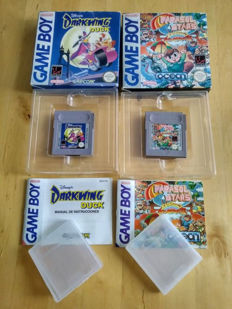 Two rare nintendo gameboy games, Darkwing Duck, Parasol Stars.