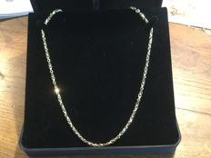 White and yellow gold necklace in 18 kt - 48 cm