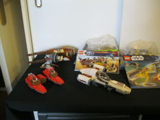 Star Wars - 7877 + 9496 + 4478 + 8085 + 7119 - Naboo Starfighter + Desert Skiff + Geonosian Fighter + Freeco Speeder + Twin-Pod Cloud Car