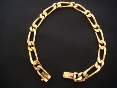 Women's link bracelet, solid gold.