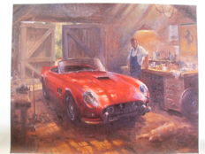 Art print - Ferrari 250 California oil painting reprint on canvas