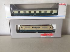 Märklin H0 - 3642/4044 - Electric locomotive BR 111 of the DB, with baggage carriage