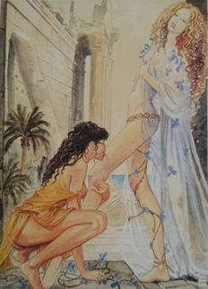 Graphic art; Milo Manara - Aphrodite 7 - late 20th century