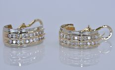 Curved Diamonds earrings - No reserve price!