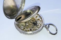 Pocket watch with compass - around 1850