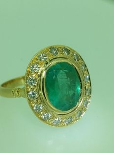 Emerald Ring of 3.20 ct