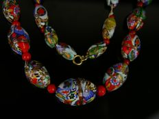 Murano Millefiori glass necklace