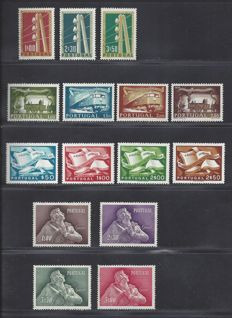 Portugal 1955/1957 – selection of Michel 825/828, 844/846, 850/853 and 856/859.
