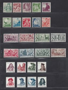 Portugal 1941/1947 – selection – Michel 632/641, 693/700 and 706/713.