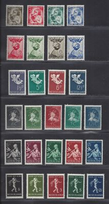 The Netherlands 1934/1932 - six series (Child) relief stamps.