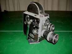 Paillard Bolex H16 film camera with 3 lenses (1945)