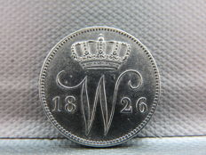 The Netherlands – 25 cents 1826B, Willem I – silver
