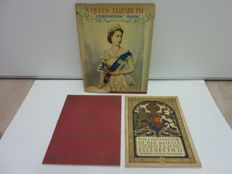 Lot of 3 rare volumes about the coronation of Queen Elizabeth