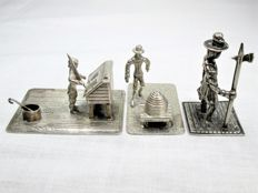 Silver miniatures: Teacher - Beekeeper - Guard