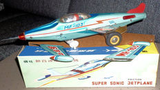 "STF, China - Length 30 cm - Tin ""Super Sonic Jet Plane"" MF103 with friction motor, 70s"