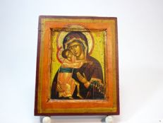 Greek icon of the Virgin and child, 19th-century