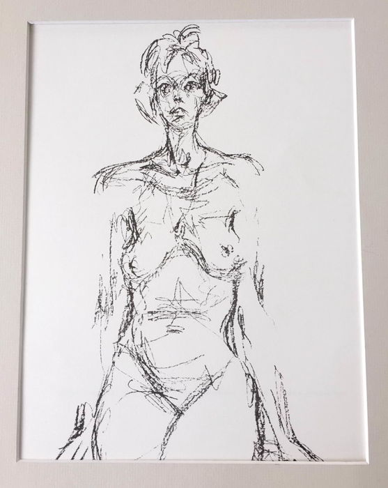 Alberto giacometti after femme nue derri re le miroir for Derriere le miroir giacometti