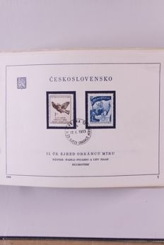Czechoslovakia 1953/1974 - Virtually complete collection of first day sheets in 2 folders