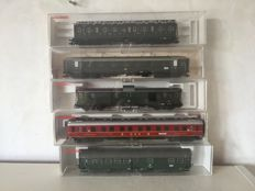 Fleischmann H0 - 5129/5631/5679/5684/5687/ - Five carriages