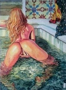 Graphic art; Milo Manara - Aphrodite 8 - late 20th century