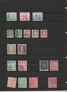 Berlin 1949/1953 – Selection of various issues.