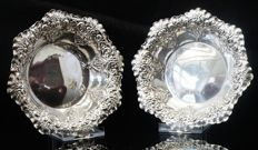 Pair of Silver Bon Bon Sweet Dishes, Sheffield 1900, Fenton Brothers Ltd
