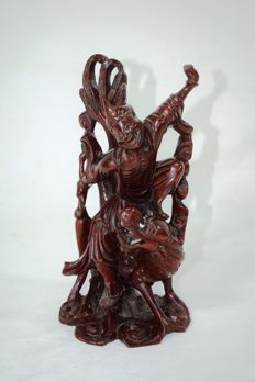 Wooden sculpture - China - Mid 20th century.