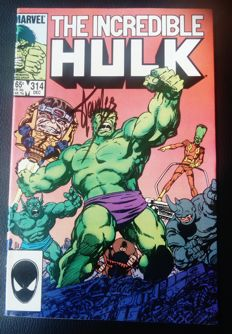 The Incredible Hulk # 314 - Signed by Stan Lee - B - EO - (1985)