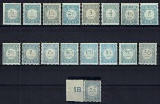 The Netherlands 1912/1920 - Postage Due and value blue - NVPH P44/P60