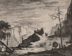 Roelant Roghman ( 1627 - 1692) - Landscape in Tirol - First state on three - Ca. 1665