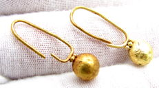 Pair of Viking Gold Earrings - (2)