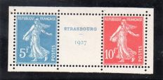 France 1927 – Stamp exhibition of Strasbourg – Yvert No. 242A