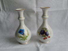 Two Meissen ball shaped vases