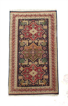 Authentic  Shirvan-Akstafa  c. 240x140cm from the 1980s in Excellent Condition