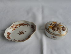 Meissen porcelain box and dish