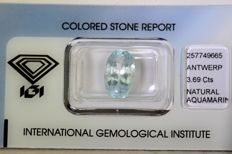 Aquamarine – 3.69 ct