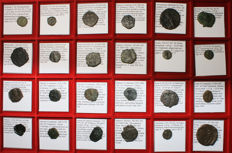 Byzantine Empire -  Lot of 24 All classified - 10 Emperors