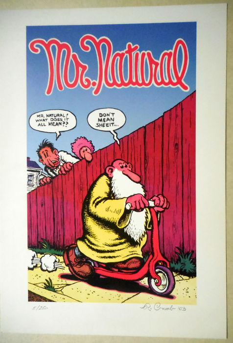 Mr. Naturel - Door Robert Crumb gesigneerde prent - Oplage: 250 ex. - (2003)