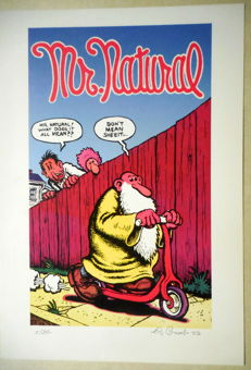Crumb, Robert - Gesigneerde prent - 'Mr Natural' - (2003)