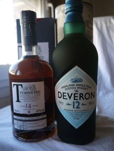 2 bottles - Tormore 14 years old & Deveron 12 years old