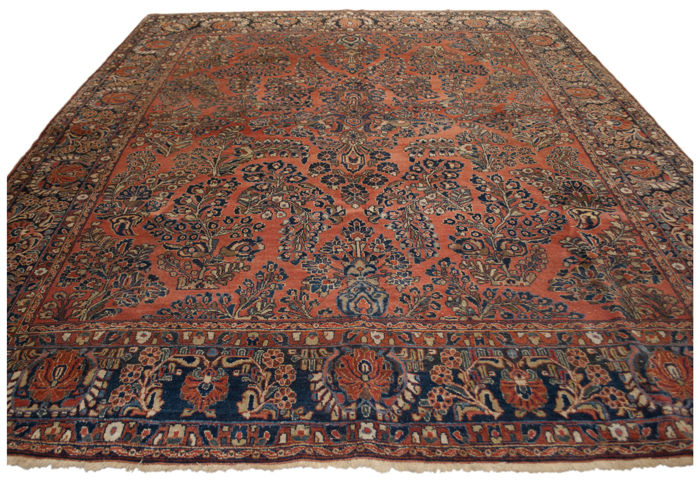 SAROKH AMERIKANO - IRAN (Persia) - Very old authentic rug  - 1900-1920 - Rare, original and exceptional - dimensions: 295 x 250 cm -  with Certificate of Authenticity (GalleriaFarah1970)