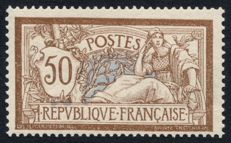 France 1900 – Merson 50c brown and grey, signed Calves – Yvert No. 120