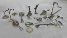 Miniature items in 800 silver
