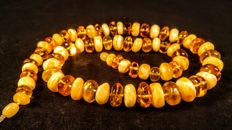 Genuine Baltic Amber necklace, weight 53 grams