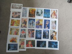 Art print; Milo Manara-set of 25 high quality erotic prints-2007